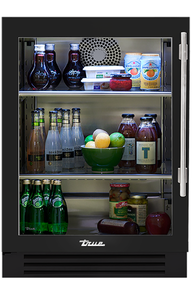 "24"" Undercounter Refrigerator in Gloss Black"