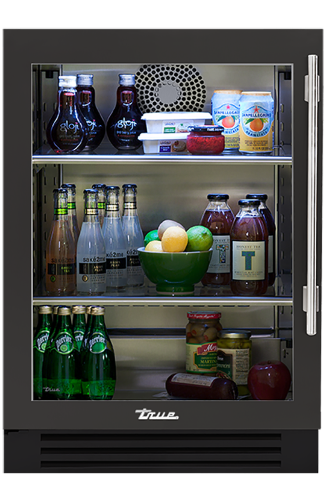 "24"" Undercounter Refrigerator in Ultra Matte Black"
