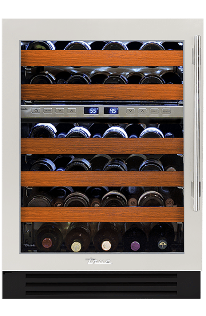 "24"" Dual Zone Wine Cabinet in Antique White"