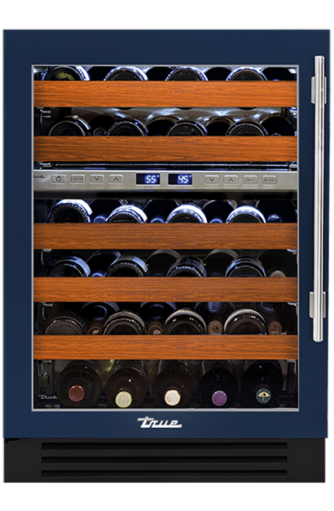 "24"" Dual Zone Wine Cabinet in Cobalt"