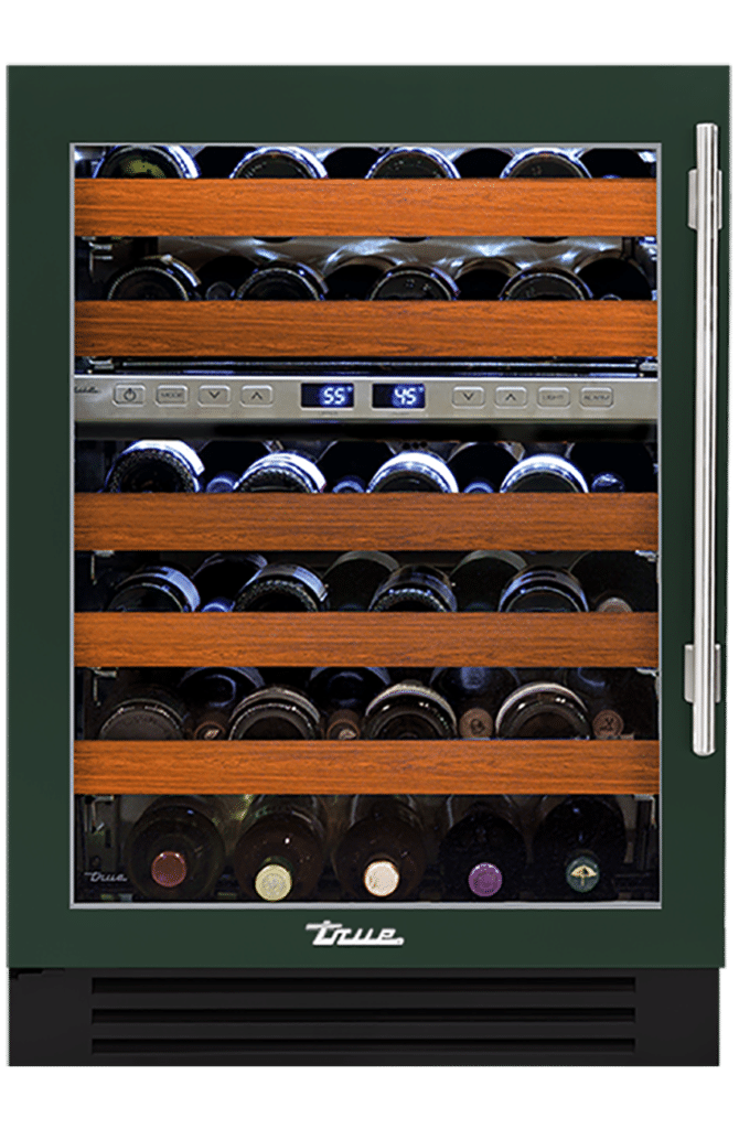 "24"" Dual Zone Wine Cabinet in Emerald"
