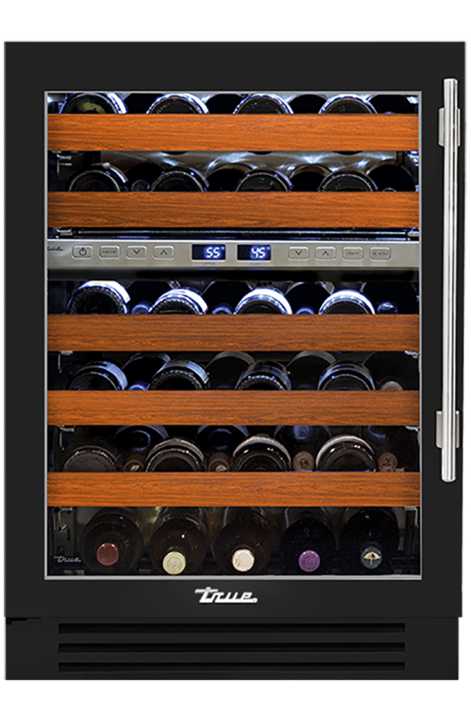 "24"" Dual Zone Wine Cabinet in Gloss Black"