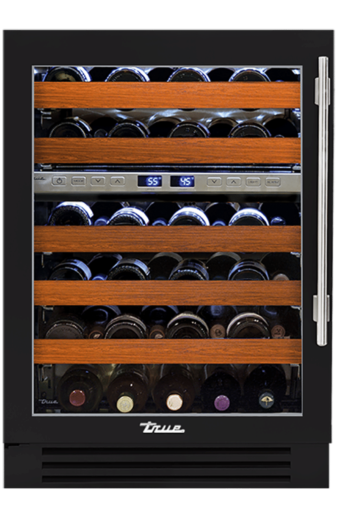 "24"" Dual Zone Wine Cabinet in Matte Black"