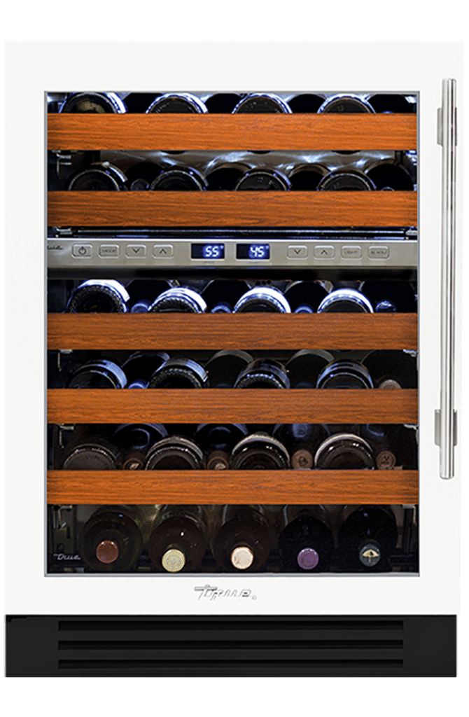 "24"" Dual Zone Wine Cabinet in Matte White"