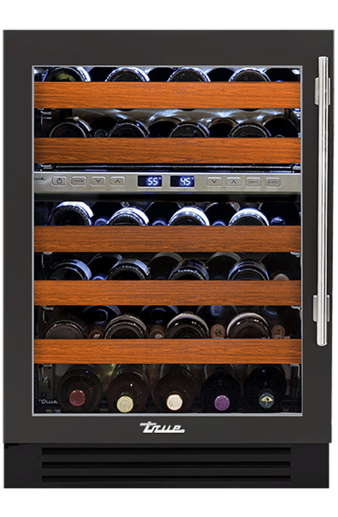"24"" Dual Zone Wine Cabinet in Ultra Matte Black"