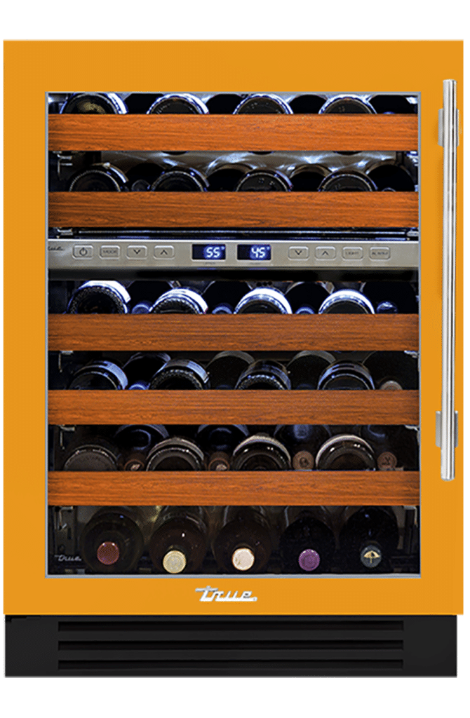 "24"" Dual Zone Wine Cabinet in Saffron"