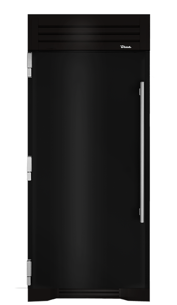 "36"" Refrigerator Column in Gloss Black"
