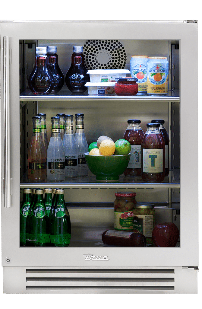 "24"" Undercounter Refrigerator in Stainless Glass"