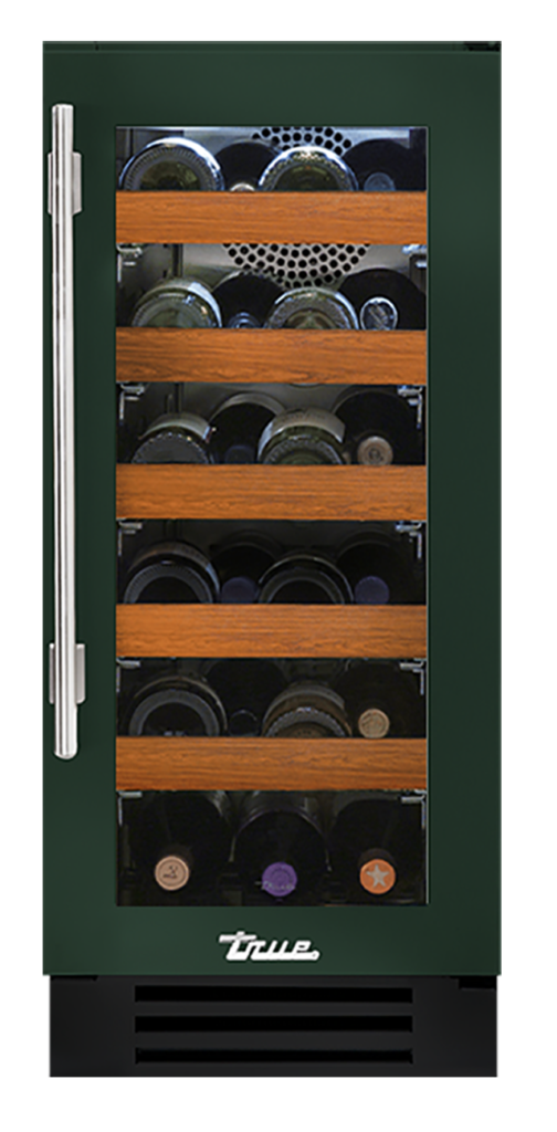 "15"" Undercounter Wine Cabinet in Emerald"
