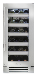 "15"" Undercounter wine cabinet in stainless"