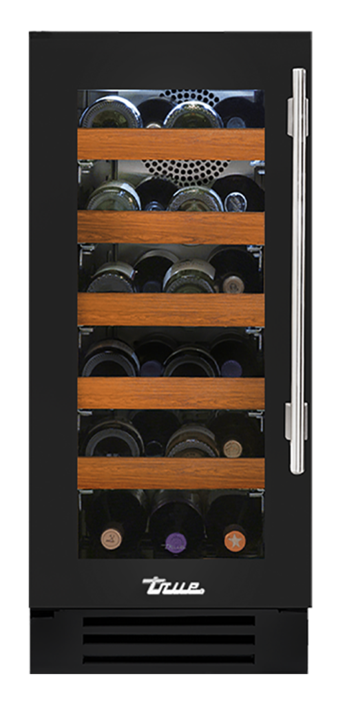 "15"" Undercounter Wine Cabinet in Gloss Black"