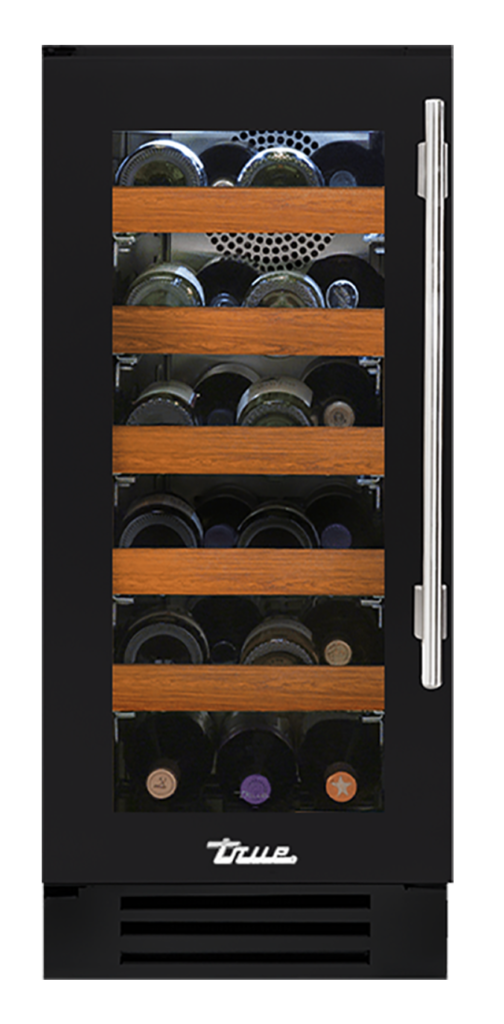 "15"" Undercounter Wine Cabinet in Matte Black"