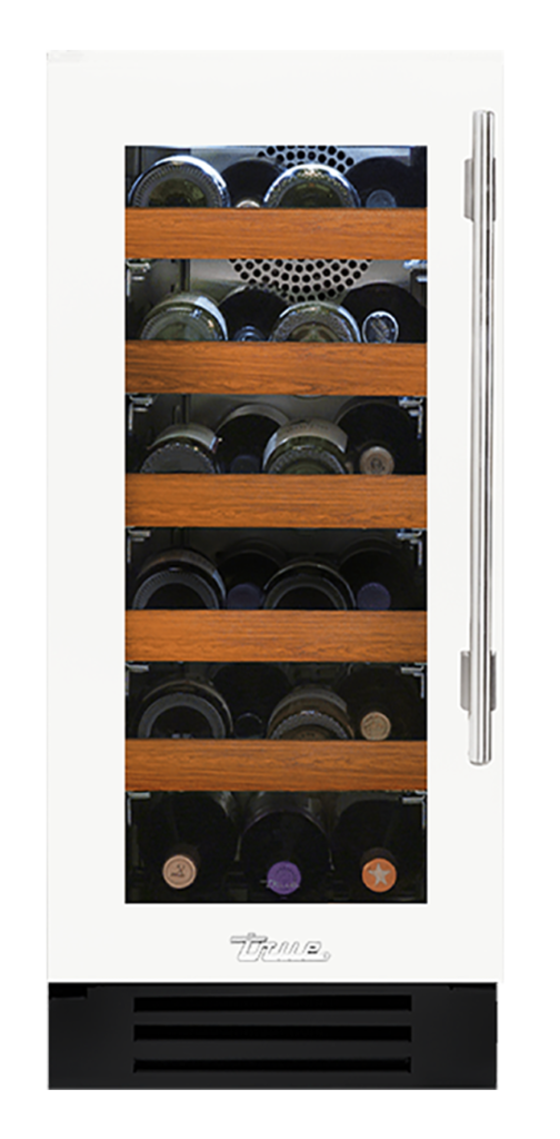 "15"" Undercounter Wine Cabinet in Matte White"