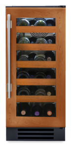 """15"""" Undercounter wine cabinet with overlay and glass"""