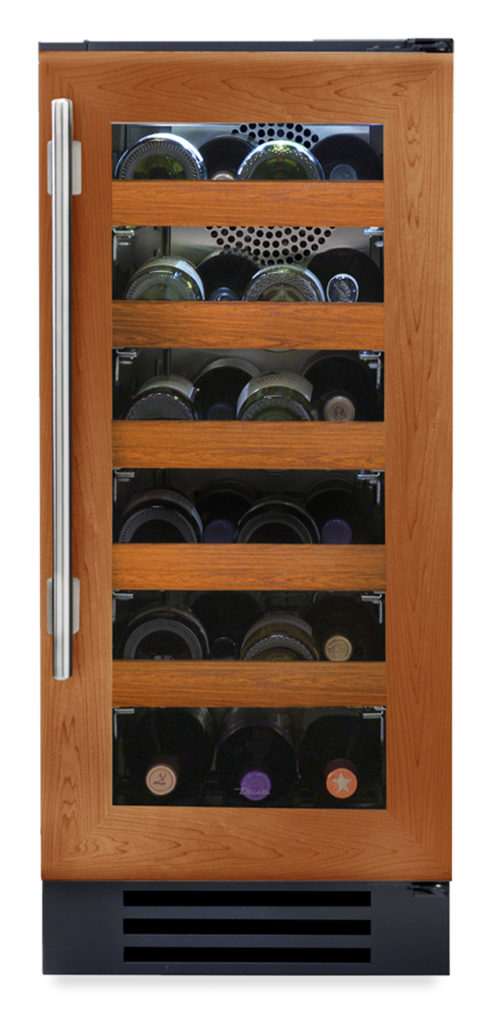 "15"" Undercounter wine cabinet with overlay and glass"