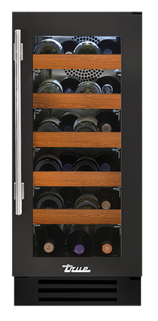 "15"" Undercounter Wine Cabinet in Ultra Matte Black"