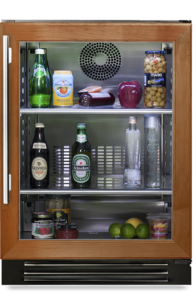 "24"" undercounter refrigerator with overlay glass"