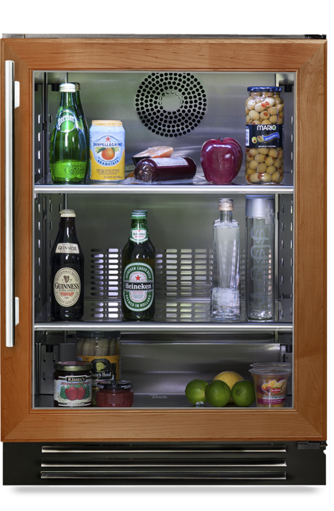 """24"""" undercounter refrigerator with overlay glass"""