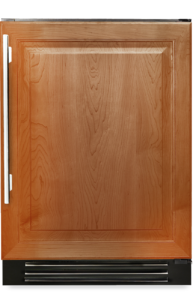 "24"" undercounter refrigerator with overlay panel"
