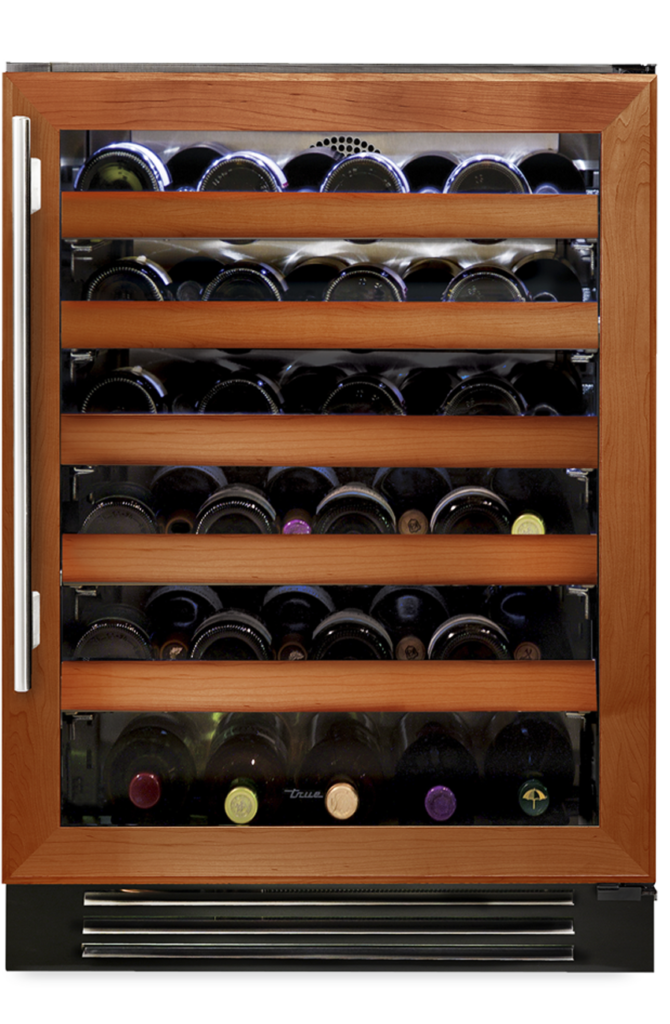 """24"""" Undercounter wine cabinet in overlay and glass"""