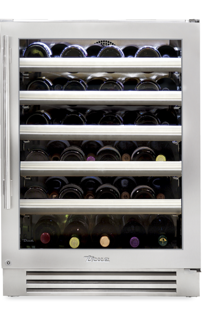 """24"""" Undercounter wine cabinet in stainless glass"""