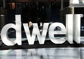 Dwell on Design Sign