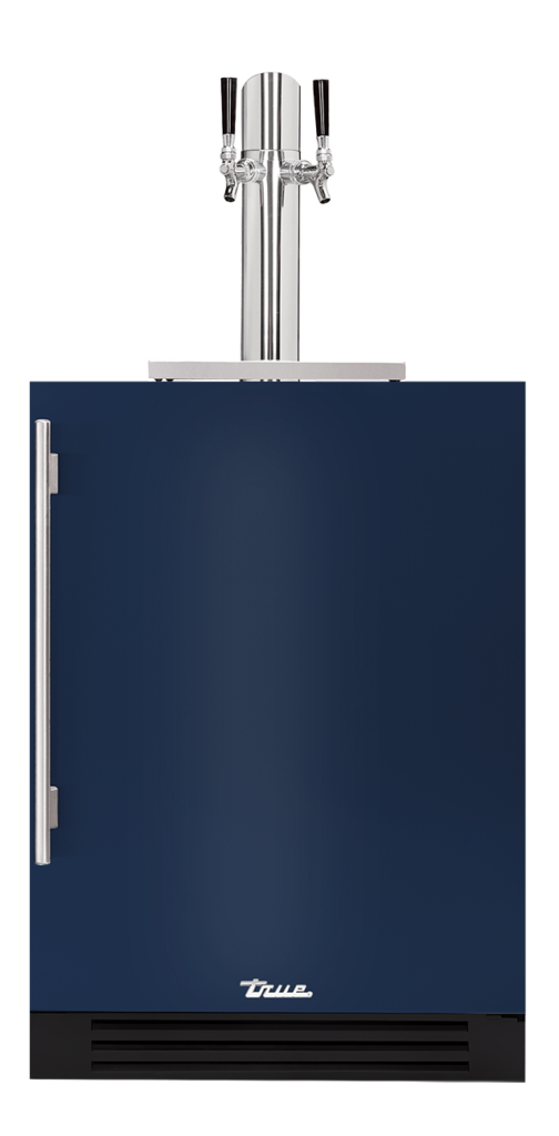 "24"" Dual Tap Beverage Dispenser in cobalt"