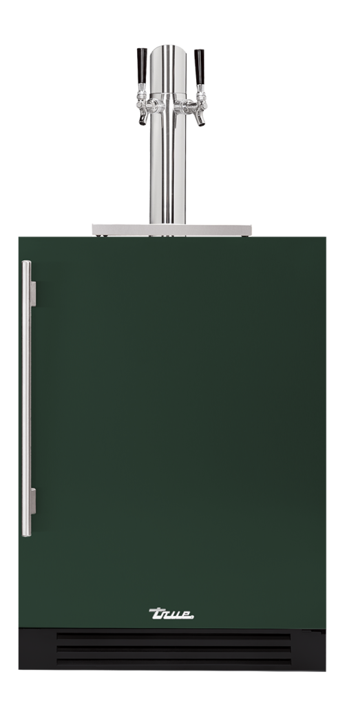 "24"" Dual Tap Beverage Dispenser in emerald"
