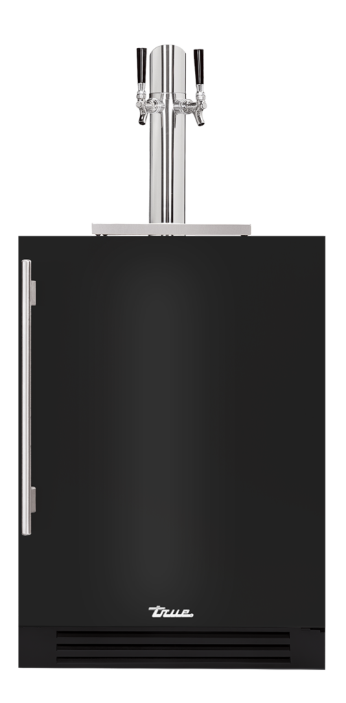 "24"" Dual Tap Beverage Dispenser in gloss black"