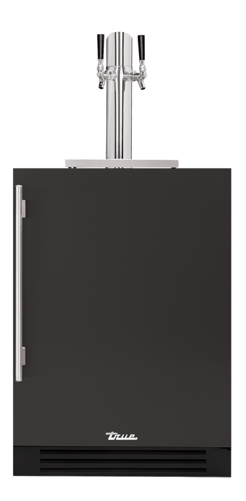 "24"" Dual Tap Beverage Dispenser in matte black"