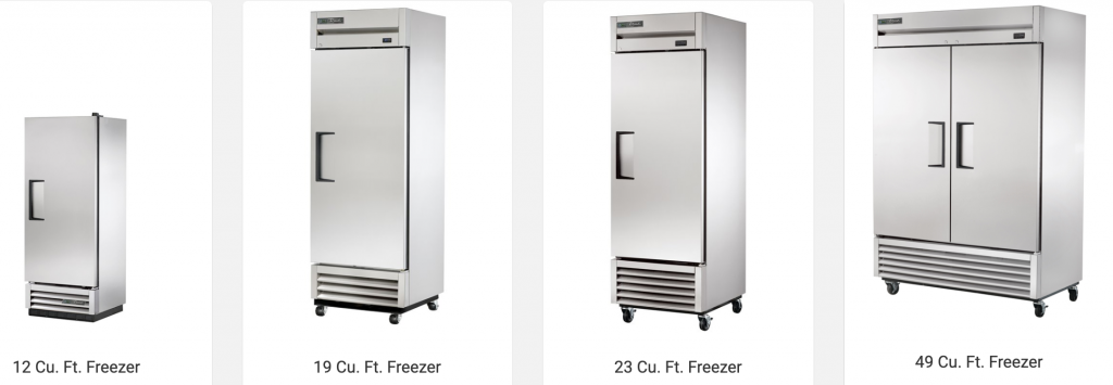 Large capacity freezers